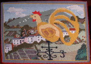Cockerel kneeler